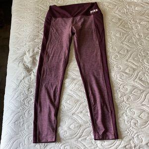 VS Pink Marled leggings w/cell phone pocket